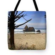 Tree And Ocean Tote Bag