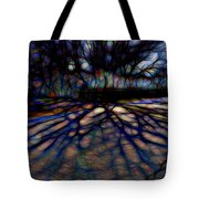 Tree And Shadow Tote Bag