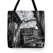 Tree And The Barn Tote Bag