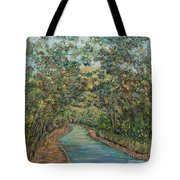 Tree Arched Road Tote Bag