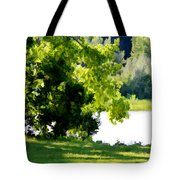 Tree At Riverside Park 3 Tote Bag