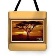 Tree At Sunset. L A With Decorative Ornate Printed Frame. Tote Bag