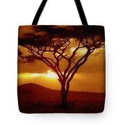 Tree At Sunset. L B Tote Bag