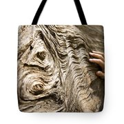 Tree Bark And Hand Tote Bag
