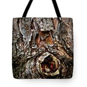 Tree Bark With Knothole Tote Bag