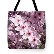 Tree Blossoms Pink Spring Flowering Trees Baslee Troutman Tote Bag