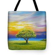 Tree By The Beach Tote Bag