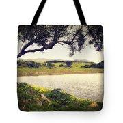 Tree By The Lake Tote Bag