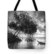Tree By The Lake Tote Bag