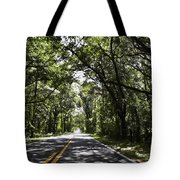 Tree Covered Road Tote Bag