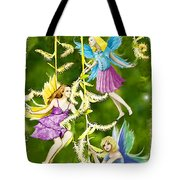Tree Fairies On The Weeping Willow Tote Bag