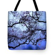 Tree Fantasy In Blue Tote Bag