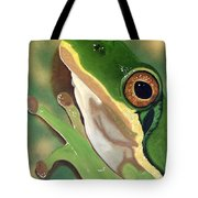 Tree Frog Eyes Tote Bag