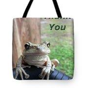 Tree Frog Thank You Tote Bag