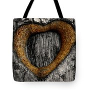 Tree Graffiti Heart Tote Bag