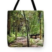 Tree House In The Woods Tote Bag