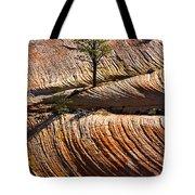 Tree In Flowing Rock Tote Bag
