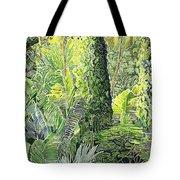 Tree In Garden Tote Bag