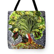 Tree In The Garden On Aluminum Substate Tote Bag