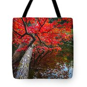 Tree In The Pond Tote Bag