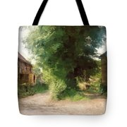 Tree In The Road Tote Bag