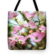Tree Landscape Pink Dogwood Flowers Baslee Troutman Tote Bag