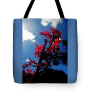 Tree Leaves Red 061814a Tote Bag