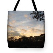 Tree Line And Clouds Tote Bag