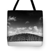 Tree Line In Winter Tote Bag