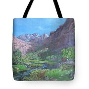Tree Line Oasis  Tote Bag