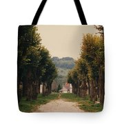 Tree Lined Pathway In Lyon France Tote Bag