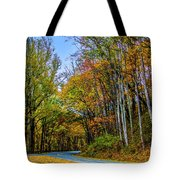 Tree Lined Road Tote Bag