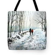 Tree Lined Stroll Tote Bag