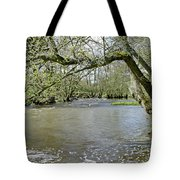 Tree-lined - Swollen River Dove At Thorpe Tote Bag