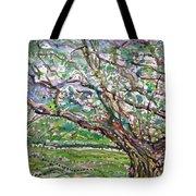 Tree, Loom Of Light And Life Tote Bag