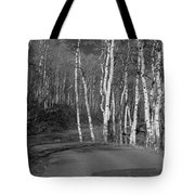 Tree Loop B And W Tote Bag