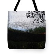 Tree Near The Water Tote Bag