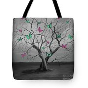Tree Of Butterflies  Tote Bag