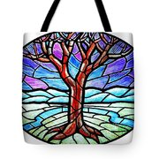 Tree Of Grace - Winter Tote Bag