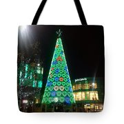 Tree Of Hearts In Green Tote Bag