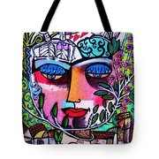 Tree Of Life Face Tote Bag