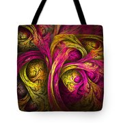 Tree Of Life In Pink And Yellow Tote Bag