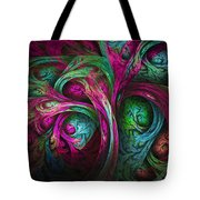 Tree Of Life-pink And Blue Tote Bag
