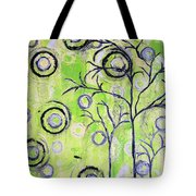 Tree Of Life Spring Abstract Tree Painting  Tote Bag