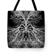 Tree Of Nature Evolving Symmetry Pattern Tote Bag