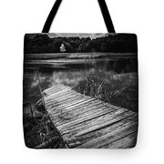 Tree Of Zen Black And White Tote Bag