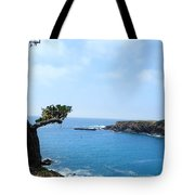 Tree On A Coastline Tote Bag