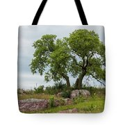 Tree On A Hill 2 Tote Bag