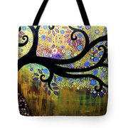 Tree On A Hill 5 Tote Bag
