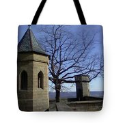 Tree On The Castle Wall Tote Bag
